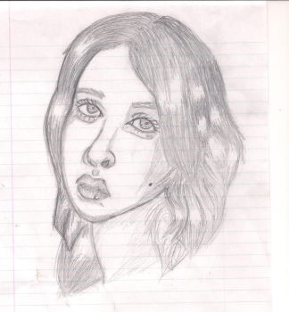 Pretty Girl Potrait by Wolfee115