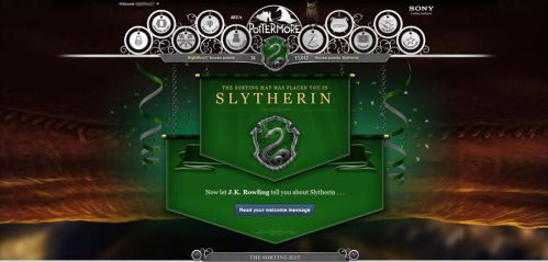 PotterMore Sorting by ClopinKingOfGypsies