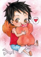 Chibi Luffy Aceo by kamenajin