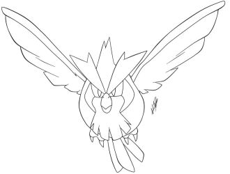 Pidgey Lineart -Old version- by Krizeii