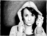 Lea Michele with a Hoodie by miserable-dreamer