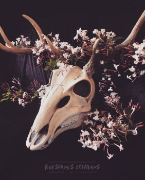 Deer mask with flowers 1 by Bueshang