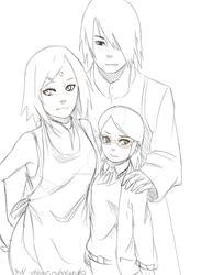 Uchiha Family by yatsuakumahichigo