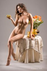 Young Woman with Grapes by underwaterops