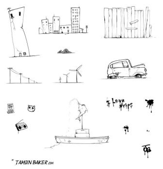 Urban Scrawl 2 IMAGE PACK by InvisibleSnow