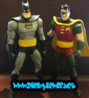 Custom Batman and Robin BTAS by rickyscomics