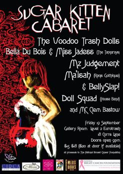 sugar kitten cabaret poster by andricongirl