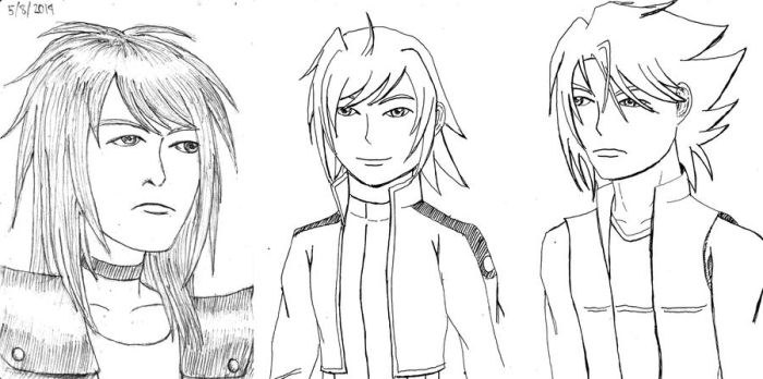 Notebook sketches - Cardfight!! Vanguard by guelpacq