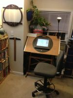 Cintiq Animation Desk by ObscureStar