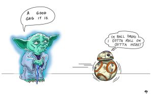 Yoda and Ball Droid (Sketch_Dailies) by EricAndersonCreative