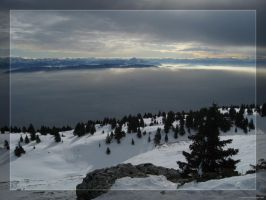Panoramic view of the alps by hipe-0