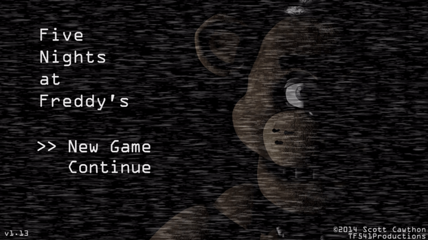 FNAF1: Menu Recreation by TF541Productions