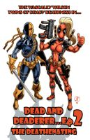 Ladies Deathstroke and Deadpool by LeighKellogg