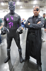Black Panther and Nick Fury by R-Legend
