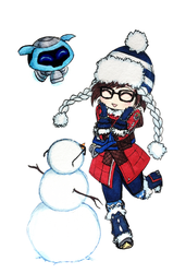 Mei - Fun With Snowball by SketchMeNot-Art