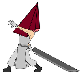 Chibi Giant Swords - Pyramid Head by Twardz