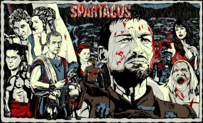 SPARTACUS BLOOD AND SAND WORK ART by FuatK