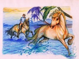 The old man and the sea (horse) by Darya87