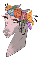 SA | Naked Flower Child by catbae