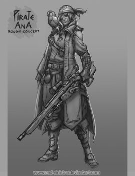 Overwatch - Pirate Ana (Rough Concept) by Red-Sinistra