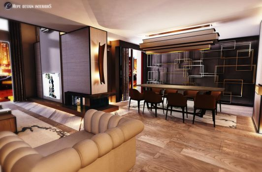Luxury House Design by Hepe Dining Part by hayriyepinar