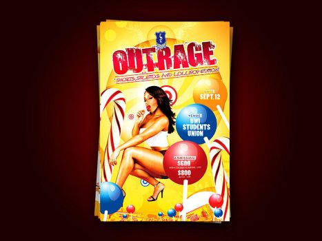 Outrage Party Flyer preview by artofmarc