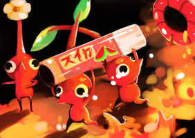 Red Pikmin by Teatime-Rabbit