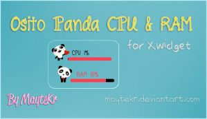 Osito Panda CPU - RAM for XWidget by MayteKr