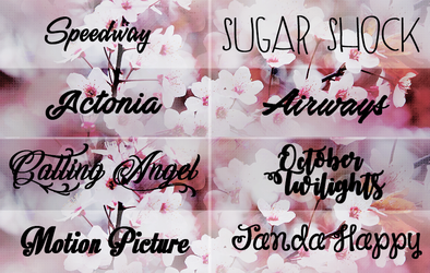 Pack Fonts ( + ) n.10 by lovexlmost