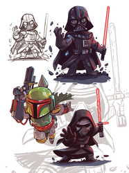 Star Wars Chibis by DerekLaufman