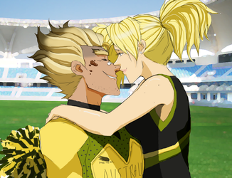 Victory Kiss by Tessryne