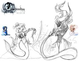 Gaia Freebie  Manara-Falsaer and The-Mermaiden by hachimitsu-ink