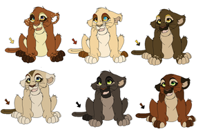 cubs :D  2 LEFT lowered price by werewolfluva