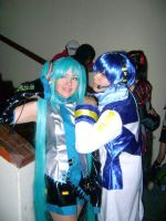 Miku and Kaito by cosplayluvx3