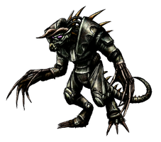 Enclave Power Armored Deathclaw Render by MetaDragonArt