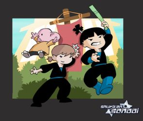 Shuriken_school_COLORED by CleverFoxImages