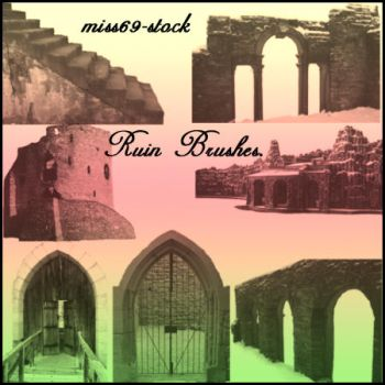 Ruins Brushes by miss69-stock