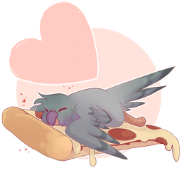 Pizza Pigeon by IdleLifestyle