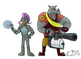 Bebop and Rocksteady 2015 by ronnieraccoon