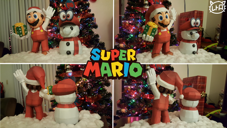 Super Mario Holiday Papercraft Special 2017 by SuperRetroBro