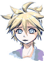 [VOCALOID] Kagamine Len - colored sketch by HunterK