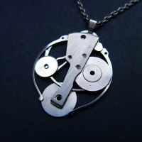 Theta (watch parts necklace) by AMechanicalMind