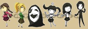 Stickers: Yume Nikki by forte-girl7