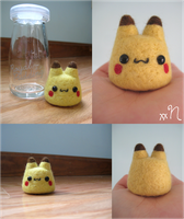 Felted Pikachu Pudding by xxNostalgic