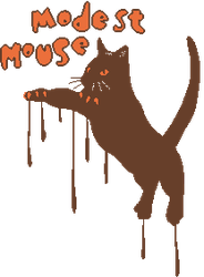 modest mouse cat pixel by theirself