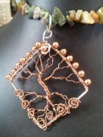 Copper Wire Tree by BacktoEarthCreations