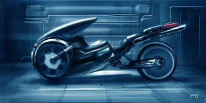 futuristic bike by anasrist