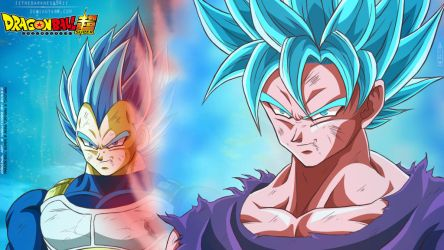 Ssj Blue Kaioken Goku and Super Vegeta Blue by IITheDarkness94II