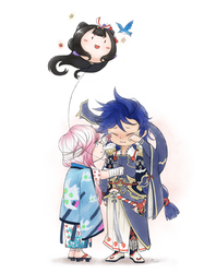 Onmyoji fan art- Susabi + Ichimoku Ren by RuuE03