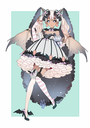 SOLD: CYOP HALLOWEEN BAT WITCH ADOPT SALE! by minnoux